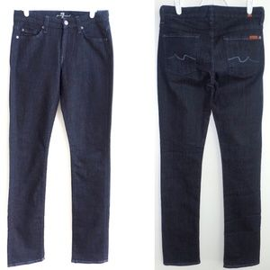 7 for All Mankind Kimmie Straight Leg Dark Jeans